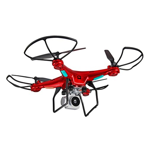 Dreamyth Wide Angle Lens HD Camera Quadcopter RC Drone WiFi FPV Live Helicopter Hover Durable (red) by Dreamyth