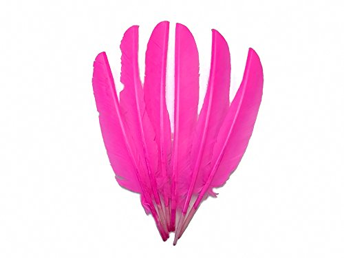 - Moonlight Feather | 1/4 Lb - Hot Pink Turkey Pointers Quill Large Wholesale Feathers (Bulk) Craft Party Costume Supplier