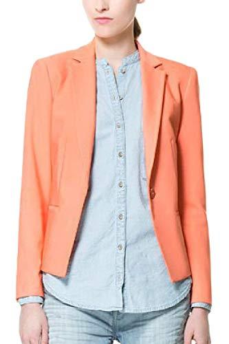 Tailleur Cappotto Vintage Button Giacca Casual Manica Tasche Blazer Puro Lunga Business Ragazza Donna Fit Eleganti Ufficio Da Con Colore Primaverile Moda Giacche Pinkblue Slim Autunno BwrE0nqB