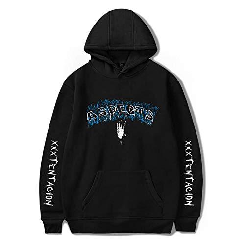 Gran Hoodie Plus Trend Tamaño De Negro Velvet Street Rapper gwY7Z7