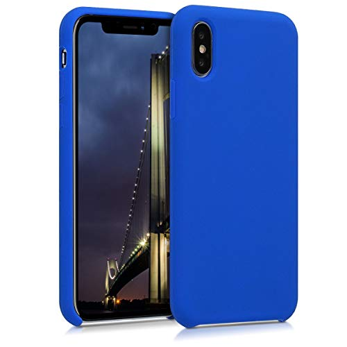 - kwmobile TPU Silicone Case for Apple iPhone X - Soft Flexible Rubber Protective Cover - Royal Blue
