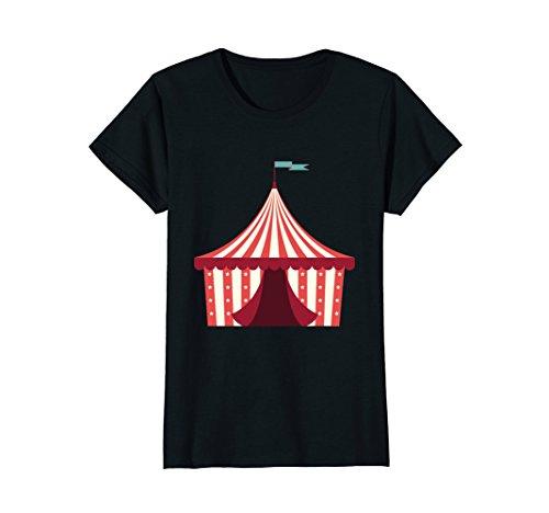 Womens Open Circus Tent Emoji Shirt Carnival Clown Shirts Large (Female Carnie Costume)