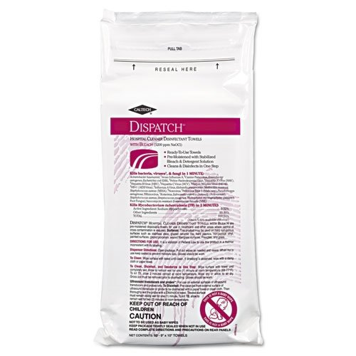 CLO69150 - Caltech Hospital Cleaner Disinfectant Towels With Bleach, 6 3/4 X 8, 150/canister
