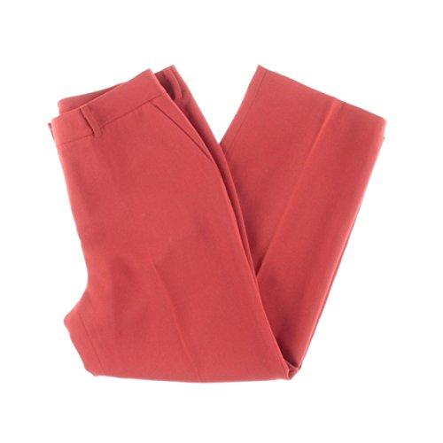Texture Base - Vince Camuto Specialty Size Womens Petite Texture Base Straight Leg Crop Pants Bright Crimson 0P 24 24
