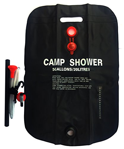 Jeater Solar Camp Shower Bag Outdoor Shower Camping Water Bathing Bag Temperature display Outdoor Travel Hiking Climbing Portable (5 Gallons/20 L)