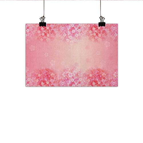 homehot Light Pink Chinese Classical Oil Painting Plum Blossom Botany Beauty Natural Spring Flowers Seasonal Background Print for Living Room Bedroom Hallway Office 27
