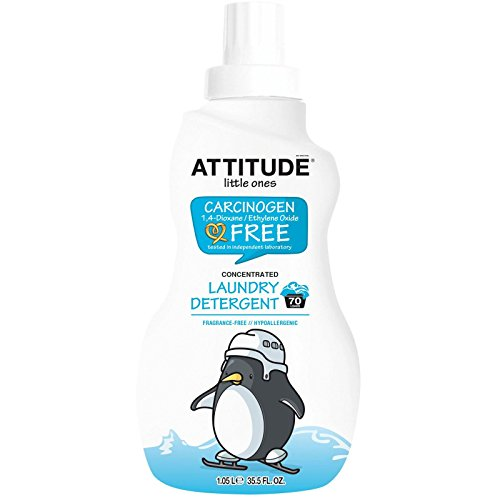 ATTITUDE, Little Ones, Concentrated Laundry Detergent, Fragrance-Free, 35.5 fl oz (1.05 L)