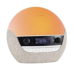 Lumie Bodyclock Luxe 700FM – Wake-Up Light with FM Radio, Bluetooth Speakers & Low-Blue Light for Sleep