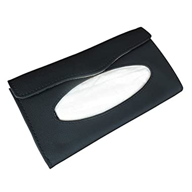 Car Sun Visor Tissue Bag Automotive Visor Accessories Tissue Case (Black)