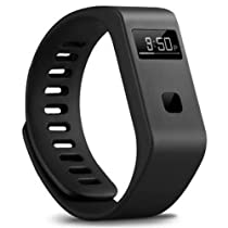 Bracelet,Lincass BL06 Bluetooth 4.0 Sync Healthy Smart Healthy Bracelet Watch Wristband Sport Gym Fitness Tracker Stopwatch Passometer WristWatch Phone Mate Supports Android 4.3 or Above Android Smartphones,Such us Samsung Galaxy S5/S4/ S3/ Note 4/3, Google Nexus 7/5, G3589W?LG G2/3, HTC one, One max (M7/M8)and Above IOS 7.0 or /Apple iPhone(iPhone 6(4.7)/6Plus (5.5)/ 5s/ 5c/4s)&ipad mini/ipad Air,ipad3 and other smartphone, Waterproof level:50M Waterproof and IP67 (Black)