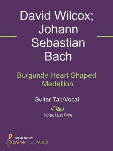 Burgundy Heart Shaped Medallion