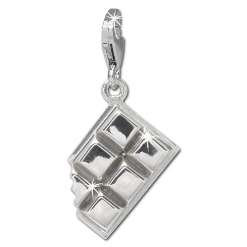 SilberDream Charm chocolate 925 Sterling Silver Pendant Lobster Clasp ()