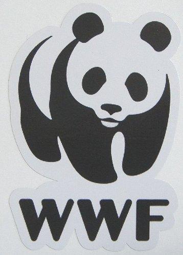 STICKERMANIA japan import Sticker WWF World Wildlife Fund panda Waterproof Paper seal