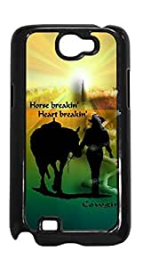 Cowgirl With Horse Case - Samsung Galaxy Note 2 VA.1 Horse Breakin Case Cover - Black Case - AArt