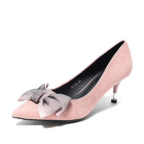 Sandales À Pink Hauts Rose Femmes Orteils Taille Noires Peu couleur 35 Talons Boucle Prononcée Chaussures Pointus Chaton Robe Bouts 6cm Élégants Pink Élégante Des rwqPrgX