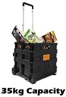 Foldable Plastic Shopping Trolley Lightweight Teacher S Book Cart