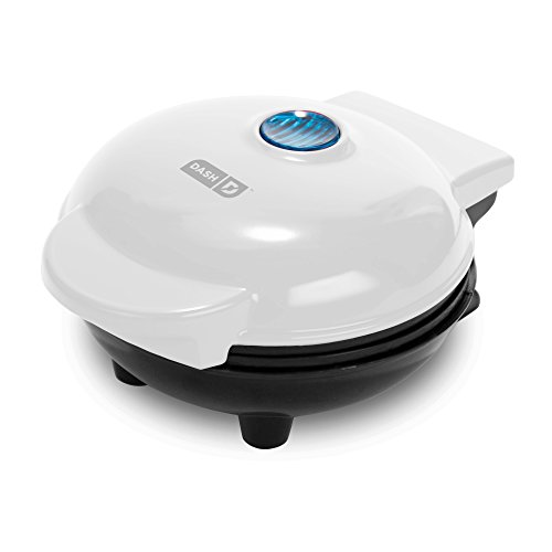 Dash Mini Maker: The Mini Waffle Maker Machine for Individual Waffles, Paninis, Hash browns, & other on the go Breakfast, Lunch, or Snacks - White ()