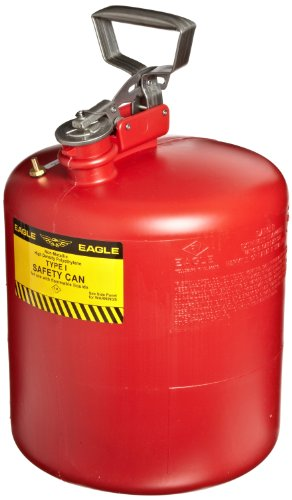 Eagle 1543 Type I Safety Can, 12-1/2'' Width x 17'' Depth, 5 Gallon Capacity, Red by Eagle
