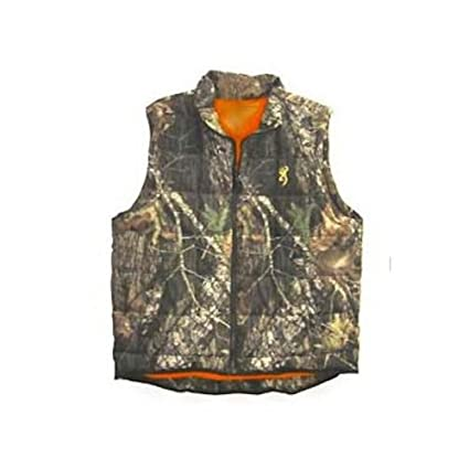 0a2d4e29391fb Amazon.com : Insulated Reversible Vest, Mossy Oak Infinity Blaze Orange :  Camouflage Hunting Apparel : Sports & Outdoors