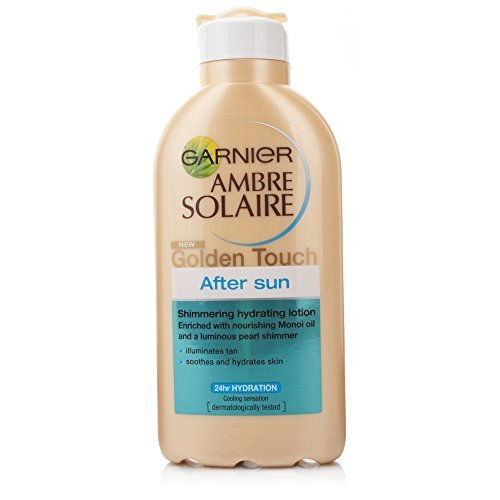 GARNIER Ambre Solaire Golden Touch After Sun Shimmering Hydrating Lotion 200ml - schimmernde feuchtigkeitsspendende AFTER SUN Lotion