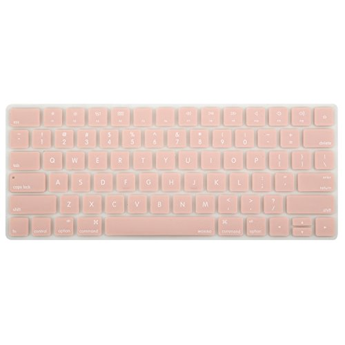 (MOSISO Soft Protective Ultra Thin Keyboard Cover Skin Compatible iMac Wireless 2nd Gen Magic Keyboard (MLA22LL/A) with US Layout, Rose Quartz)