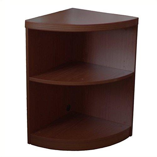 Mayline ABQ2LDC Aberdeen Quarter Round Corner Bookcase, 2 Shelf, Mocha Tf