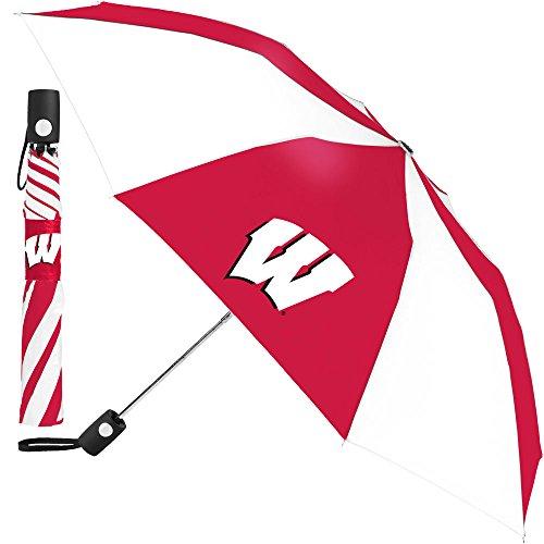 NCAA Wisconsin University of Auto Folding Umbrella, Black