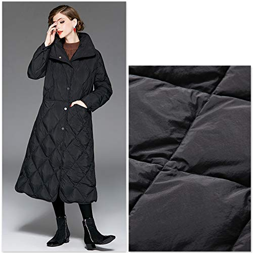 Bolsillo Elegante Con De Ropa Larga Invierno Solapa Para Mujer Rombal Black Abrigo Chaqueta Gruesa Xcxdx 7In5SwOqx