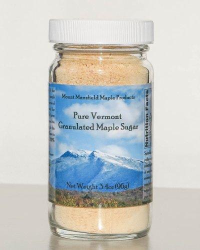 Mansfield Maple-Pure Vermont Granulated Maple Sugar 3.4oz glass jar - Maple Sugar Pepper