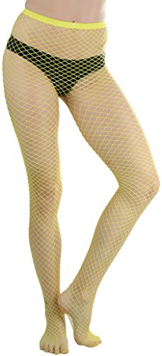 ToBeInStyle Women's Mini Diamond Net Spandex Panty - Yellow