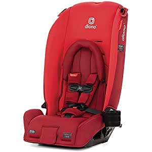 Diono 2020 Radian 3RX, 3-in-1 Convertible, Infant Insert, 10 Years 1 Car Seat, Fits 3 Across, Slim Fit Design, Red Cherry