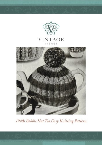 How to make a simple retro bobble hat tea cosy,cozy, and use up leftover yarns.
