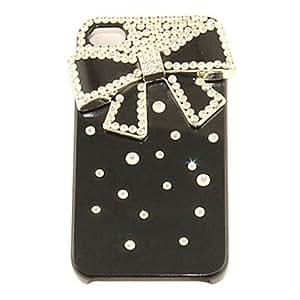 ZXM-Aleación del bowknot del ornamento de circón cubierta de nuevo caso para el iphone 4/4s