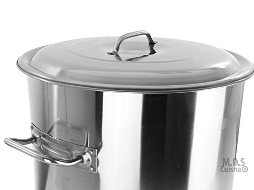 Stock Pot Stainless Steel 52''QT Lid Steamer Brew Vaporera Divider Tamales New by M.D.S Cuisine Cookwares (Image #2)