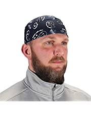 Ergodyne Chill Its 6630 Skull Cap, Lined with Terry Cloth Sweatband, Sweat Wicking, Navy Western