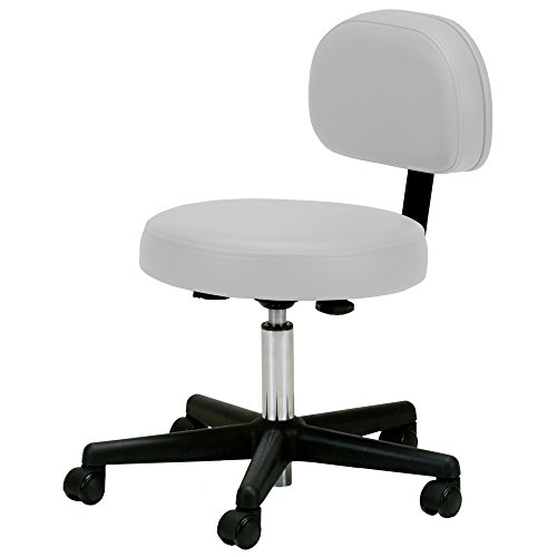 EarthLite Pneumatic Massage Rolling Stool with Backrest -...