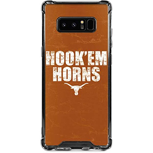 Skinit Texas Longhorns Hook Em Galaxy Note 8 Clear Case - University of Texas at Austin - Skinit Clear Case - Transparent Galaxy Note 8 Cover ()