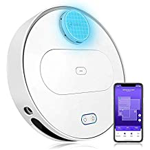 360 Robot Vacuum Cleaner with Laser Navigating, Multiple-Floor Mapping, Sweep, Mop, Auto-Recharging, HEPA Filter, App Control for Hard Surface Floors and Thin Carpets