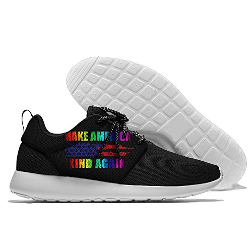 CREAMYARD Mens Better America Breathable Mesh Leisure Sports Shoes Printing Soft Sole Sports Running Shoes MxU3QKsDBP