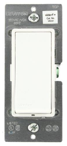 (Leviton VRCS1-1LZ Vizia RF + 1-Button Scene Controller/Virtual Switch Remote for Multi-Location Control, White/Ivory/Light Almond)