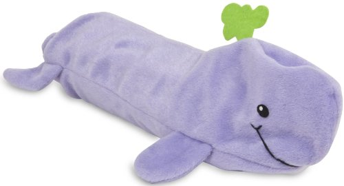 Petmate 54195 Squeakbottles Whale Dog Toy, Purple, My Pet Supplies