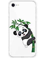 Miagon Transparent Case for iPhone 6 Plus/6S Plus,Bamboo Panda Pattern Creaive Funny Clear Soft Ultra-Thin Flexible Silicone Drop-Protection Fully Protective Cover Case