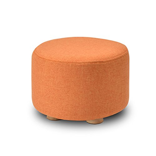 Living room solid wood stool/living room sofa stool/Bed stool Multifunctional footstool/Household stool/Coffee Table Stool/Creative shoe bench/Bench/2920cm (Color : Orange) by Xin-stool