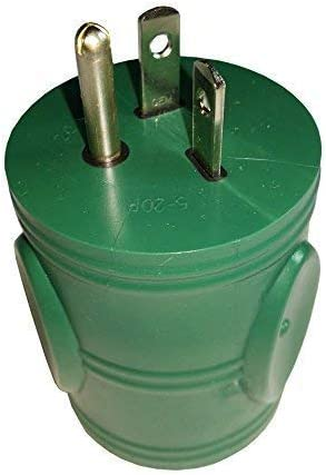 Parkworld 886696 Generator Adapter 3-Prong 20A 5-20P Male to 30A L5-30R Female