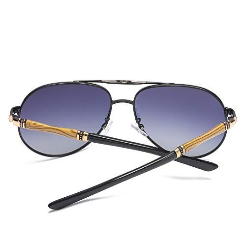 Hombres TLMY De Gafas Metálico Black Silver De del Sol De De Sol Película Color Frame del La Frame Gafas De Black Gafas Polarizadas Las Los Lens Espejo Sol Espejo Gray Lens Color de rqrwYdI
