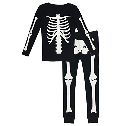 Halloween Costumes In Under 10 Minutes (Under Disguise Halloween Kid's Skeleton Matching Family Pajama Set (Kids)