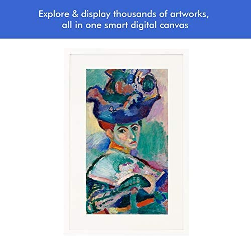 Canvia – Digital Art Canvas Smart Digital Frame 11AC WiFi 16GB 27x18in Frame Adv Full-HD Display Powered by ArtSense Free 2500 Artworks White