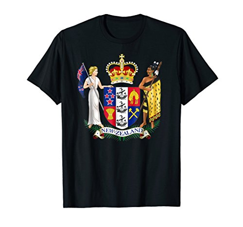 New Zealand T-shirt Coat of arms Tee Flag ()