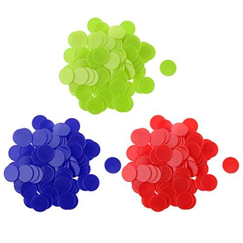 Baoblaze 約300枚 32mm カードゲーム ポーカーチップ カウンター マーカー ボードゲーム用 全2選択  - 赤+緑+青の商品画像