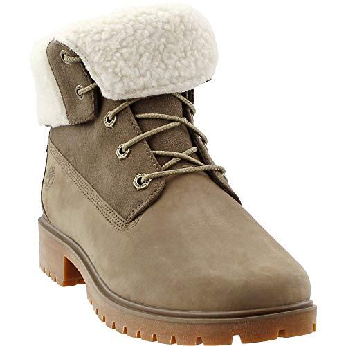 Timberland Jayne Fleece Fold Down Women's Boots Light Brown Nubuck tb0a1sgb (10 B(M) US) (Jacket For Women Timberland)